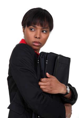 Scared businesswoman Stock Photo - 16806591