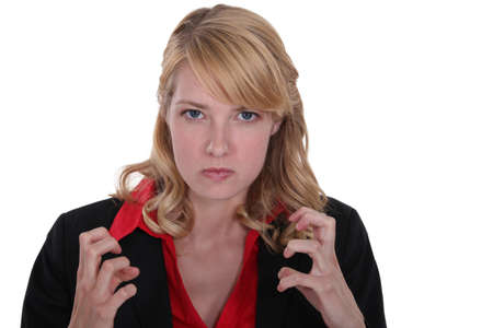 will power: An angry businesswoman