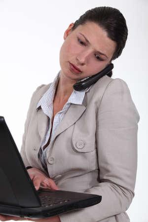 multitask: Woman multitasking