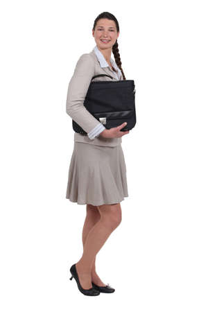 businesswoman holding a briefcase Stock Photo - 16804363