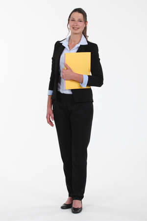 Businesswoman with files Stock Photo - 16805989