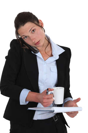 Busy businesswoman Stock Photo - 16807617