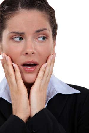 Anxious businesswoman Stock Photo - 16808153