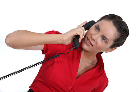 confound: woman talking on the phone