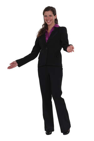 A businesswoman greeting customers  Stock Photo - 16804365
