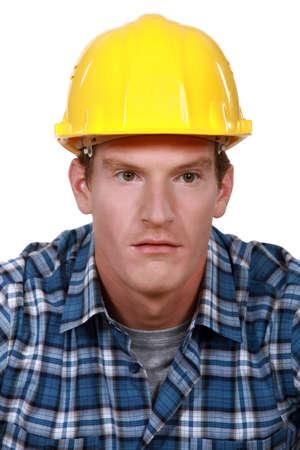 Confused looking builder photo