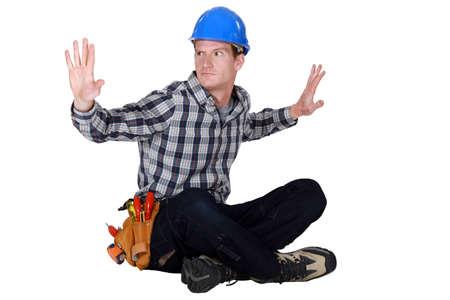 Laborer gesturing Stock Photo - 16806589