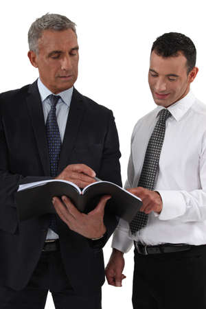 Businessman discussing something Stock Photo - 16841916