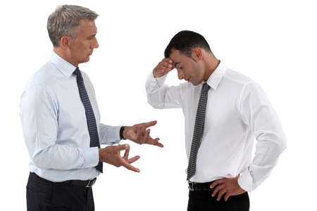 body language: businessmen quarreling