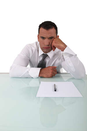 bummed: Frustrated man Stock Photo