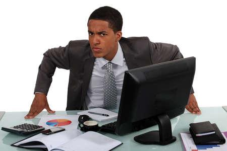 An annoyed businessman Stock Photo - 16842095