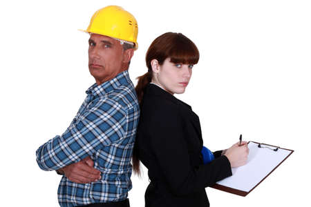 Architect and an engineer with a clipboard Stock Photo - 16842073