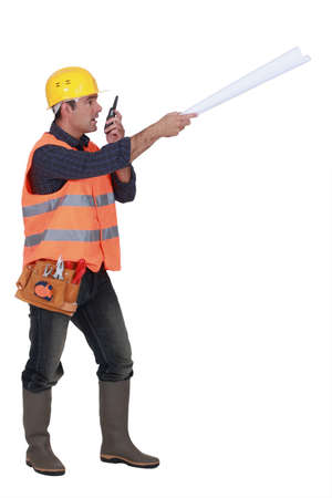 bossy: Bossy foreman Stock Photo