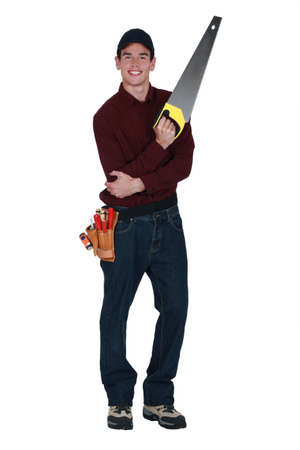 tendons: Handyman with a handsaw