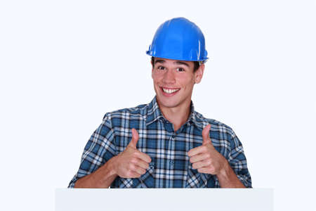 agreeable: craftsman thumbs up Stock Photo