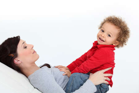 Woman and child Stock Photo - 16842010