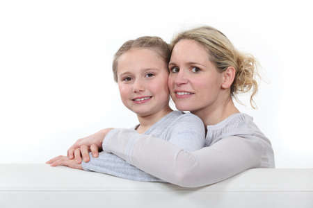 Mother and daughter in studio Stock Photo - 16842074