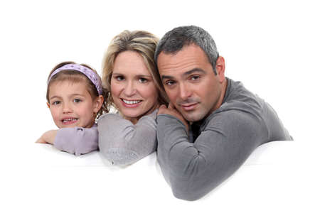 Portrait of parents with child Stock Photo - 16841961