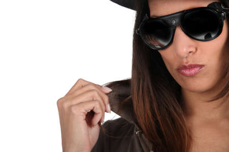 eminent: fashionable woman Stock Photo