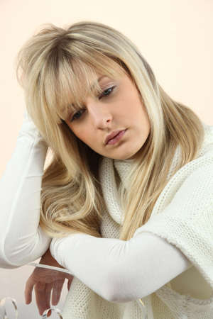 woman looking sad and tired Stock Photo - 16901829