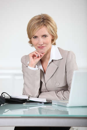 Blonde woman with an agenda Stock Photo - 16900897