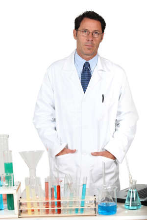 Male researcher in laboratory photo