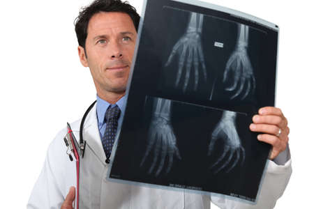 portrait of a doctor with radiography photo
