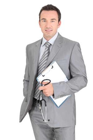 gp: Studio portrait of a male GP Stock Photo
