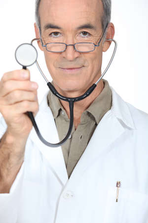 doctor showing stethoscope