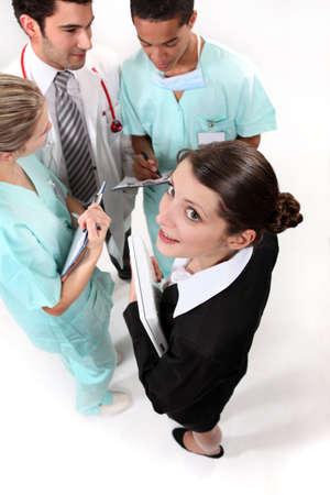 A hospital meeting. photo