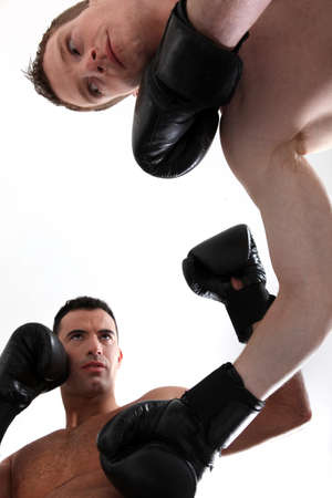 blow out: A boxing match Stock Photo