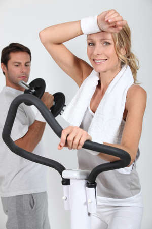 Couple working out photo