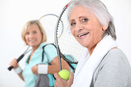 lively: Women going to play tennis