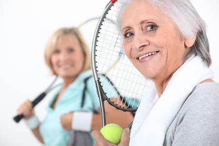 affinity: senior women playing tennis