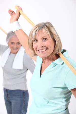 older women: Older women in an exercise class