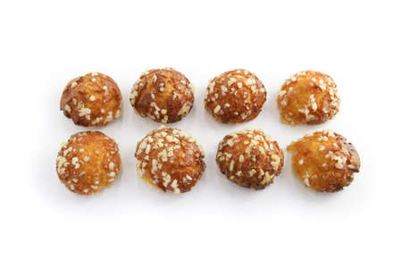 choux bun: French chouquette pastries