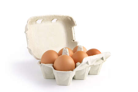 6 pack: Six eggs in a box