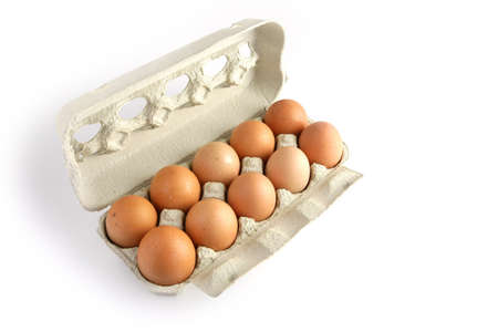 Carton of eggs photo