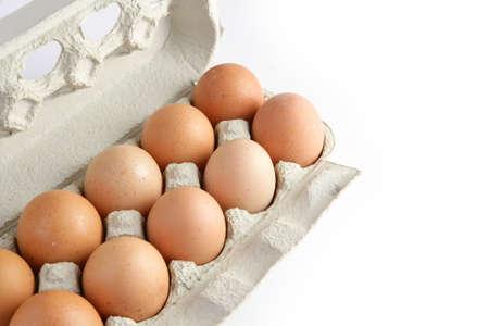 carboard box: Dozen eggs