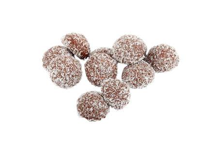 coconut sugar: Chocolate truffles