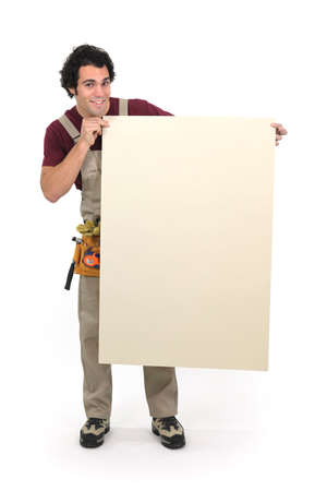 Carpenter endorsing himself Stock Photo - 16950217