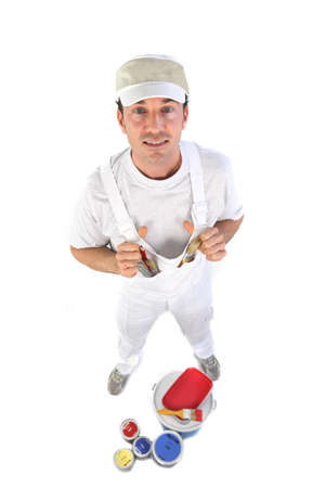 decorator: Decorator with pots of paint