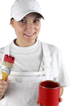 roofless: Handywoman in painter clothing