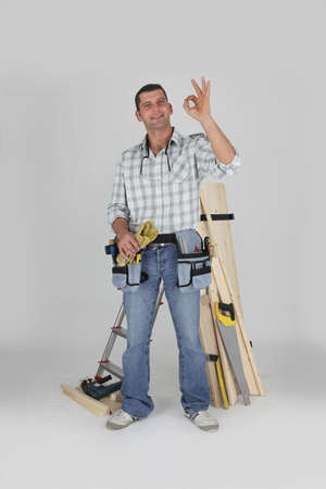 OK from a carpenter Stock Photo - 16950830