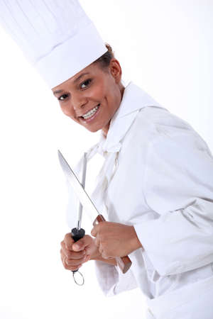 pointed arm: Cook shapening knife
