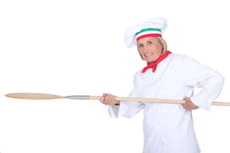 pizza maker: Pizza maker Stock Photo