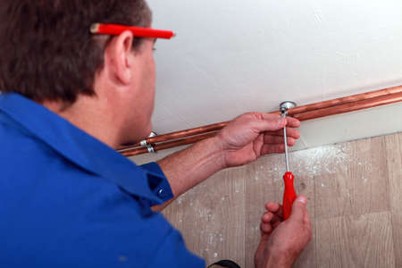 pencils  clutter: plumber