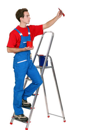 Painter on a ladder  photo