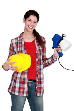 decorator: Decorator with a paint gun