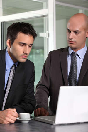 young businessman looking sad and defeated Stock Photo - 17219415